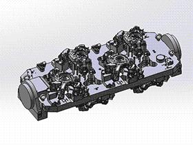 转向节四轴夹具 zdfi1010 solidworks 3D图纸 三维模型