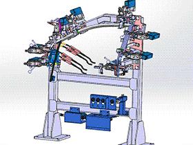 比亚迪车门焊接夹具 ZDFQ1009 solidworks 3D图纸 三维模型