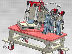 汽车焊接夹具 汽车焊接胎具 ZDFQ1010 solidworks 3D图纸 三维模型