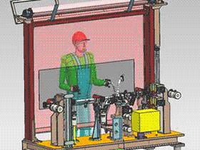 汽车焊接夹具仪表横梁总成设计模型 仪表横梁总成 ZDFQ1012 solidworks 3D图纸 三维模型