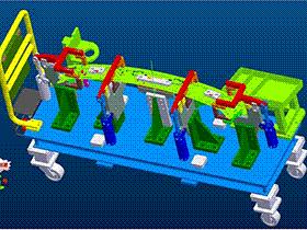 汽车零件焊接工装夹具 ZDFQ1013 solidworks 3D图纸 三维模型