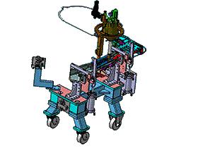 汽车左右前纵梁前段总成30焊装夹具 ZDFQ1015 solidworks 3D图纸 三维模型