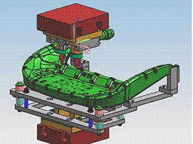 汽车座椅零部件点焊夹具 ZDFQ1016 solidworks 3D图纸 三维模型