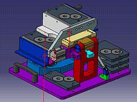 大灯内反光镜灯泡座打螺钉夹具 ZDFQ1017 solidworks 3D图纸 三维模型