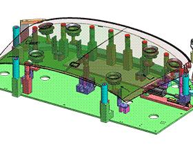 挡风玻璃密封总成工装夹具 ZDFQ1018 solidworks 3D图纸 三维模型