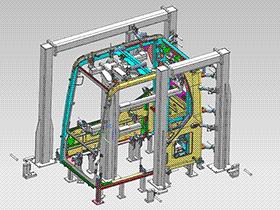 驾驶舱焊接夹具 ZDFQ1019 solidworks 3D图纸 三维模型