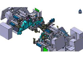 汽车后轮罩夹具设计 3D模型 ZDFQ6007