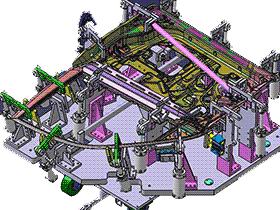 汽车门总成焊接夹具CATIA V5 R21设计 ZDFQ6008