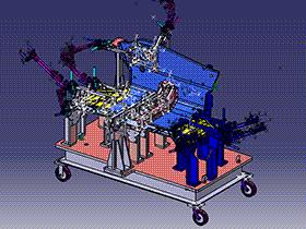 汽车前围板和前围板夹具总成 3D模型 ZDFQ6009