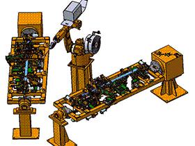 汽车仪表梁骨架机器人弧焊焊装夹具 3D模型 ZDFQ6011