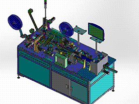 连接器自动检测机 ZDJA1004 solidworks  3D图纸 三维模型