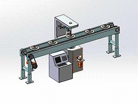 zdjb1001_跳动检测机设备 solidworks 3D图纸 三维模型