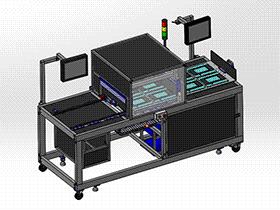 zdjb1005_触摸屏探针测试机 solidworks 3D图纸 三维模型