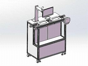 zdjb1008_双工位气水双检测测漏设备 solidworks 3D图纸 三维模型