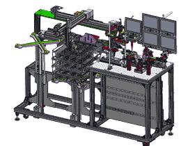 自动视觉检测机 ZDJE1001 solidworks  3D图纸 三维模型