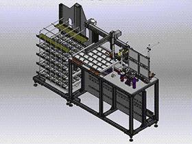自动视觉检测机 ZDJE1002 solidworks  3D图纸 三维模型