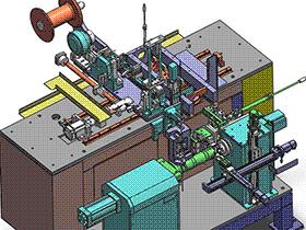 全自动绕线机 ZDRB1002 solidworks  3D图纸 三维模型