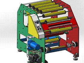 自动卷绕机_开卷机 ZDRE1001 solidworks  3D图纸 三维模型