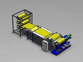 薄膜复卷机 ZDRE1003 solidworks  3D图纸 三维模型