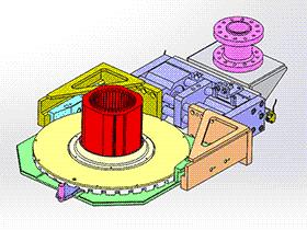 电机绕线转盘 ZDRG1002 solidworks 3D图纸 三维模型