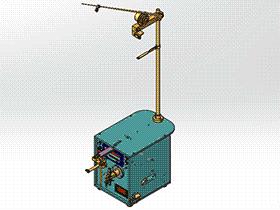 小DC电机手动转向绕线机 ZDRG2002 solidworks 3D图纸 三维模型