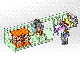 zdrj1001_螺旋缠绕机 solidworks 3D图纸 三维模型