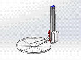 zdrj1002_托盘式缠绕包装机 solidworks 3D图纸 三维模型