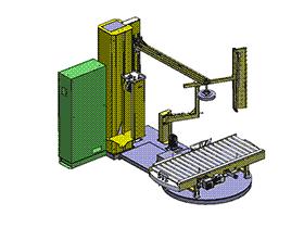 zdrj1006_缠膜机 solidworks 3D图纸 三维模型