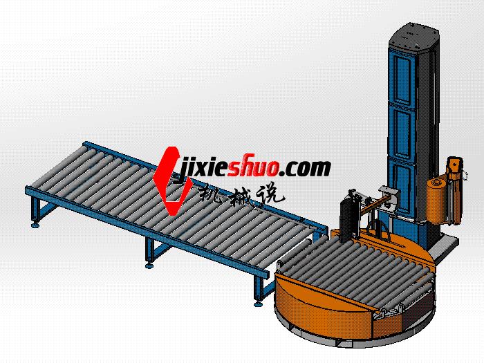 在线式围膜缠绕机 zdrj2001 solidworks 3D图纸 三维模型