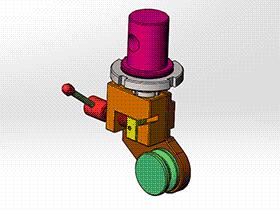 钢丝绳缠绕拉伸工装 zdrj2002 solidworks格式 3D图纸 三维模型