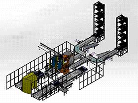 全自动码垛缠绕包装输送一体生产线 zdrj2003 solidworks格式 3D图纸 三维模型