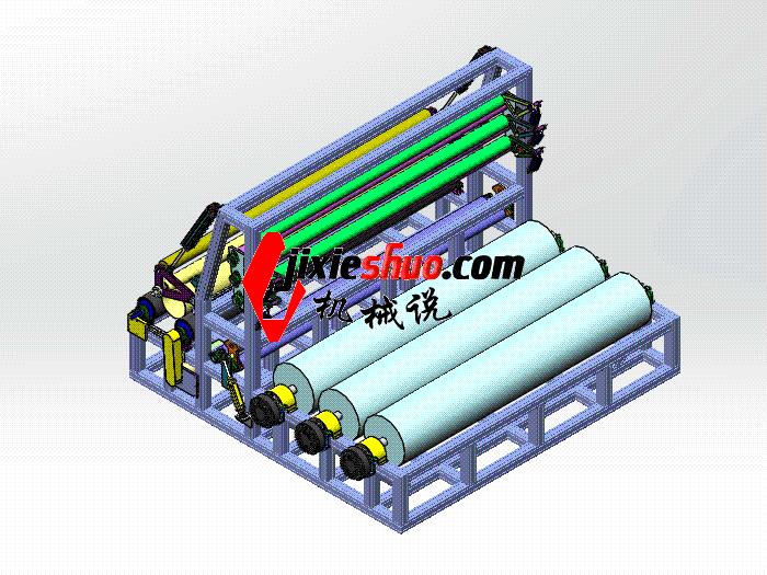 三米缠绕机 zdrj2004 solidworks格式 3D图纸 三维模型