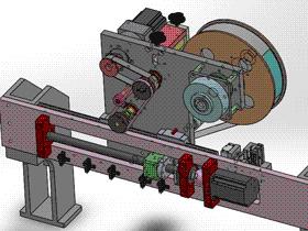撕纸+贴纸机构3D图纸 T158 ZDTB2037 非标自动化设备3D图纸3D模型