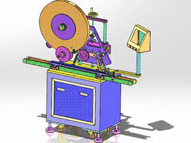 SD卡贴标机 ZDTB1050 solidworks  3D图纸 三维模型