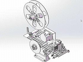 片膜分离机构 ZDTB1051 solidworks  3D图纸 三维模型