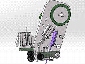 贴高温胶带工作头 ZDTB2005 solidworks 3D图纸 三维模型