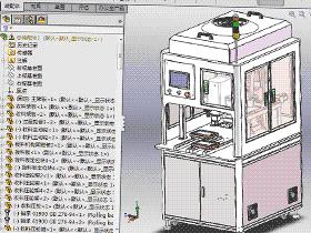 双滑台贴标机  ZDTB2006 非标自动化设备3D图纸3D模型