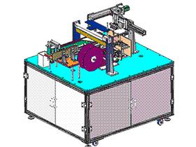 检测贴胶包装一体机 ZDTB2012 solidworks 3D图纸 三维模型