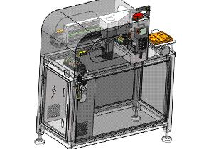 非标自动化模内贴标机械手 ZDTB2014 solidworks 3D图纸 三维模型