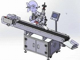 T11500卡片贴标机 带全套2D工程图 ZDTB2038 solidworks  3D图纸 三维模型