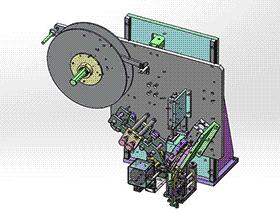 贴胶纸机构 ZDTB2040 solidworks格式 3D图纸 三维模型
