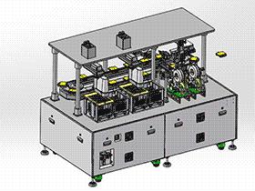 环型自动贴合机工作站 ZDTG1009 solidworks 3D图纸 三维模型