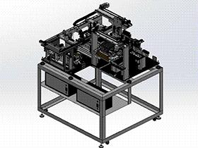 LED元件检测摆盘封焊一体机 ZDWE1001 solidworks  3D图纸 三维模型