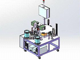 电子元件光纤焊接机 转台式装配焊机 ZDWE1003 solidworks  3D图纸 三维模型