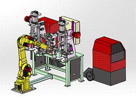转子部分止回阀总成检查焊机 ZDWE1006 solidworks  3D图纸 三维模型