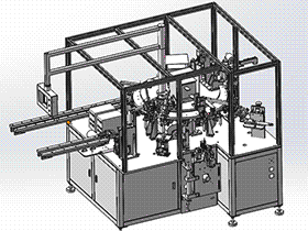 圆形电容穿心焊接机 ZDWE1007 solidworks  3D图纸 三维模型