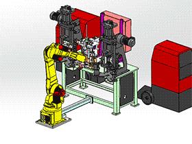 zdwi1001_机器人自动焊接机 solidworks 3D图纸 三维模型