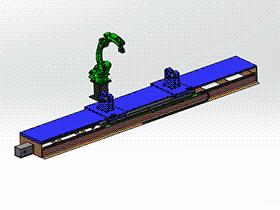 zdwi1007_自动焊接机器人与自动焊接联动平台 solidworks 3D图纸 三维模型