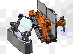 zdwi1008_自动化焊接设备之机器人焊接定位器 solidworks 3D图纸 三维模型