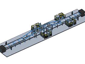 电动床框架机器人自动化流水线焊接 zdwi1009 通用格式 3D图纸 三维模型